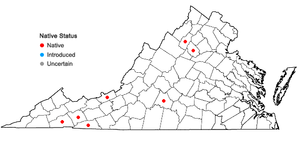 Locations ofAndreaea rupestris Hedwig in Virginia