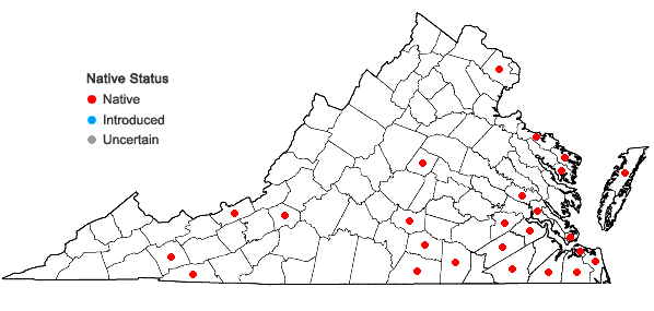 Locations ofFuscocephaloziopsis catenulata (Huebener) Vana & Söderstr. in Virginia